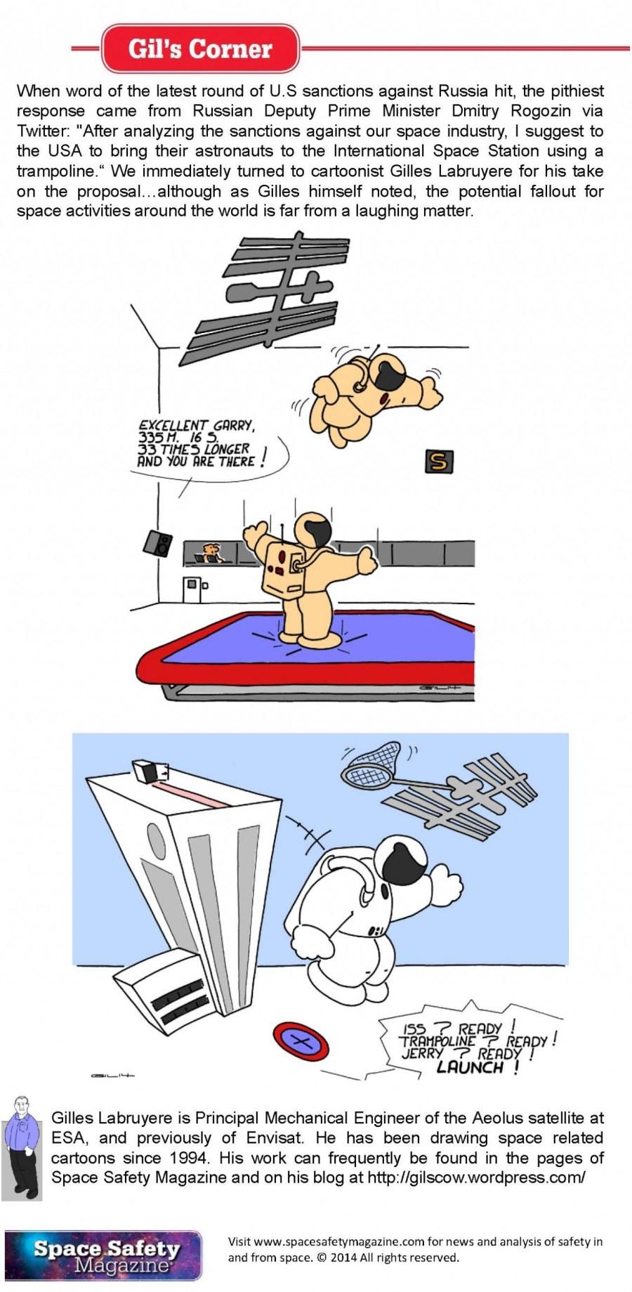 Gilles cartoon trampoline