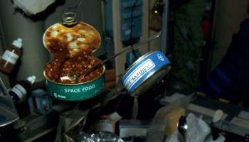 Most astronaut food comes prepackaged