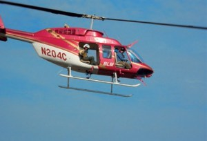 Ciannilli searches for Columbia debris by helicopter