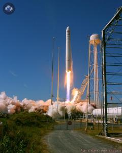 Takeoff of Orbital Sciences' Antares