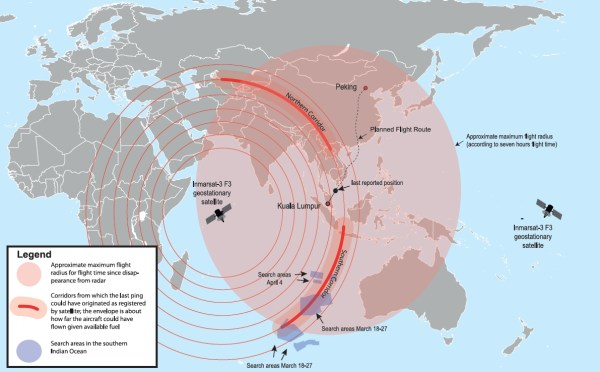 Evolution of MH370 search area