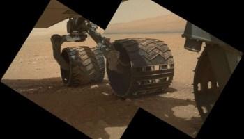 Mars rover Curiosity's wheels
