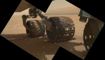 Mars rover Curiosity's wheels