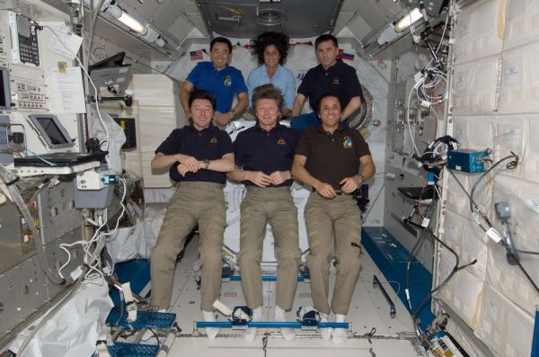 Astronauts onboard the International Space station.