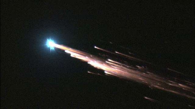 ATV 1 re-entry breakup, Credits: NASA