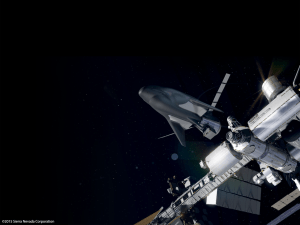 Artistic impression of SNC Dream Chaser docking to the International Space Station (Credits: Sierra Nevada Corporations).