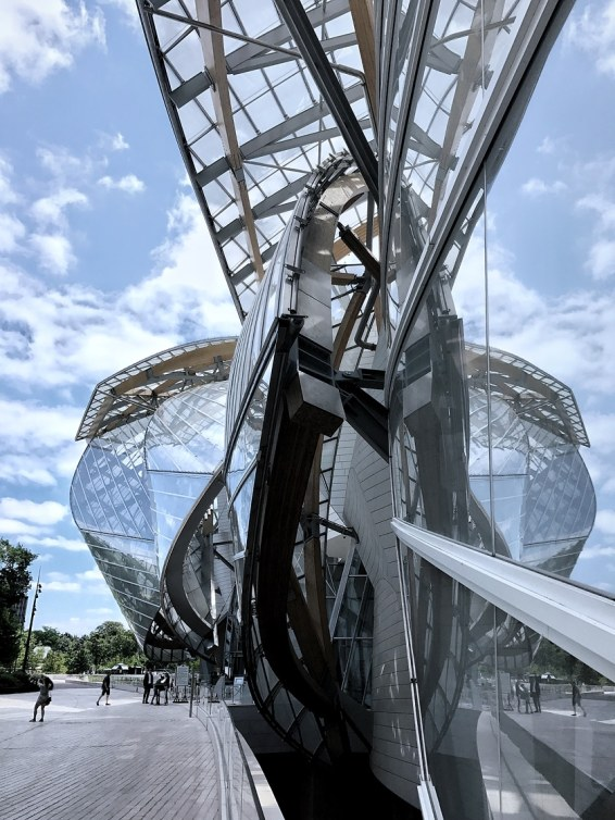 Fondation Louis Vuitton in Paris designed by the architect Frank Gehry