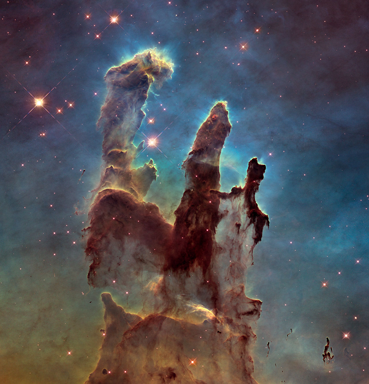 New view of the Pillars of Creation — visible