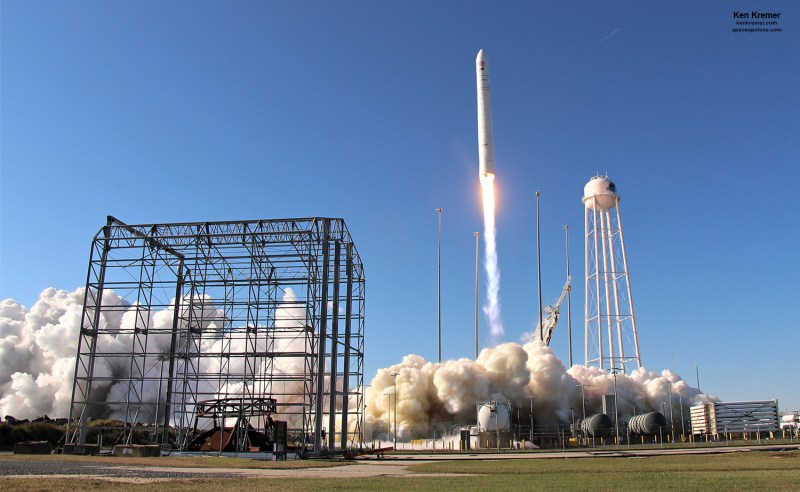 Gorgeous Liftoff for Antares Commercial Rocket and Cygnus Cargo Freighter Carrying Space Cookie Oven, Mice and EVA Tools to ISS: Photos