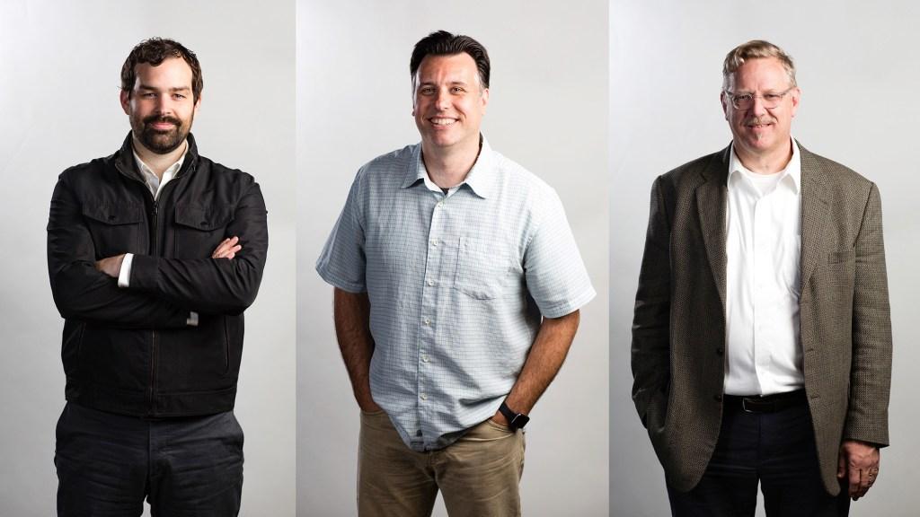 Designers of ROTATOR Creative Lance Kagey, Scott Varga, and Mark Alvis