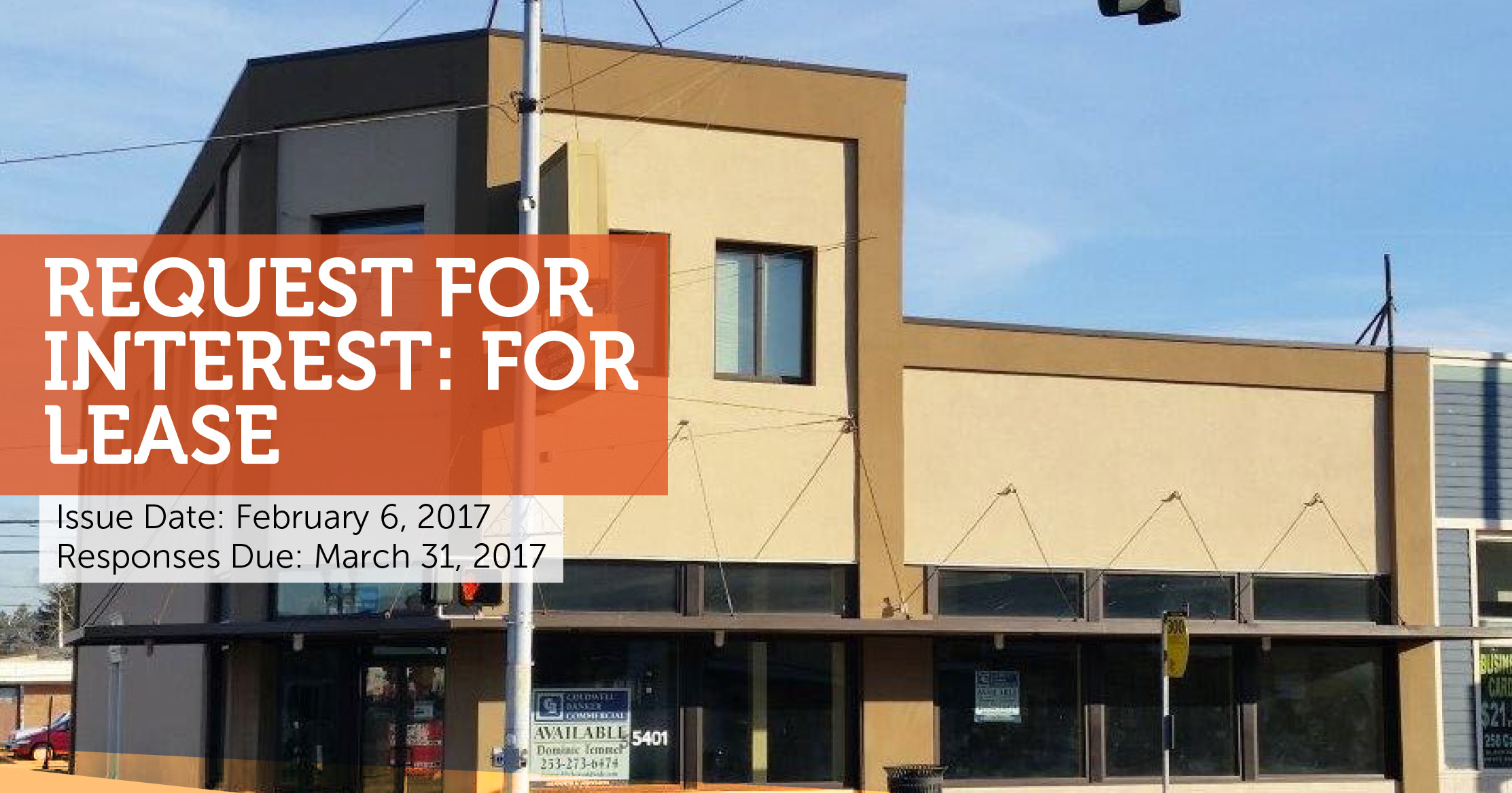 City of Tacoma issued a request for interest to partner with small business in South Tacoma Way