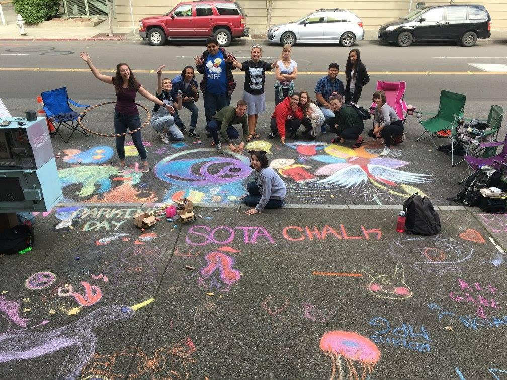 SOTA chalk PARK(ing) Day 2016