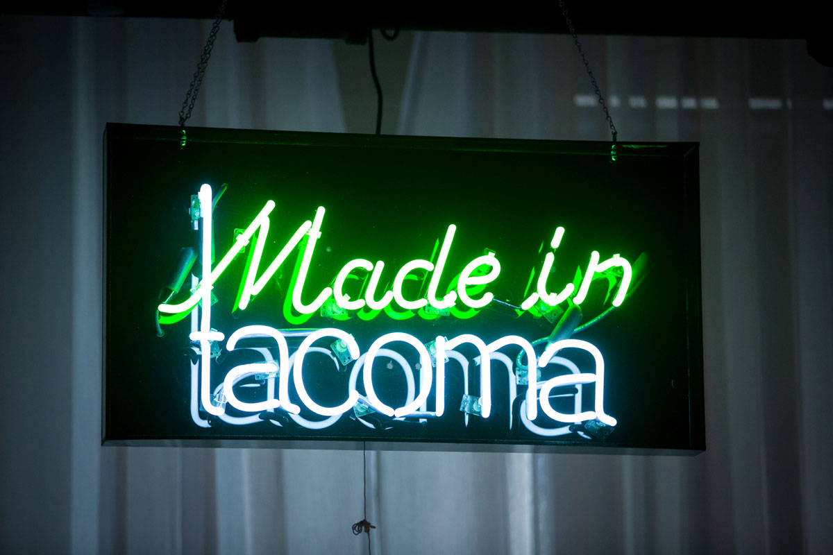 """Made in Tacoma"" neon sign by Galen Turner"