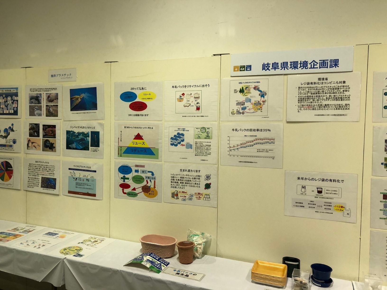 様々な環境に配慮した活動展示