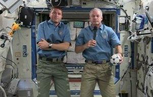 Commander Steve Swanson en Flight Engineer Reid Wiseman