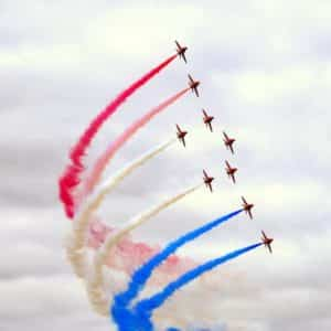 red arrows in air show support armed covenant