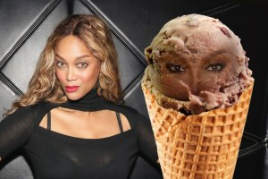 Tyra Banks-ice cream eyes