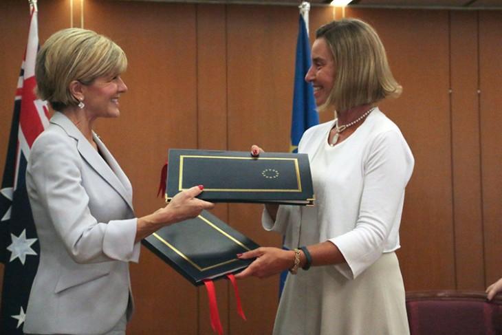 Australia y la Unión Europea firman un acuerdo de cooperación