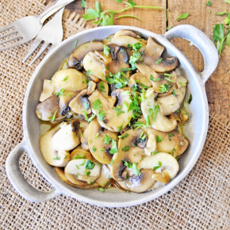 Sauteed Garlic Mushrooms with Parsley