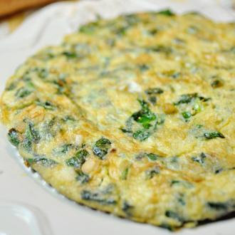Spanish Style Spinach Omelette
