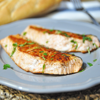 Pan Grilled Salmon – Healthy Recipe
