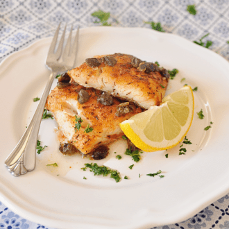 Pan-Seared Cod Recipe with Paprika and Capers
