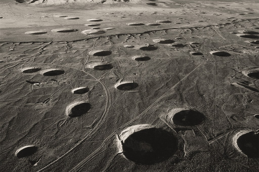 Emmet Gowin's aerial picture of the Nevada test site
