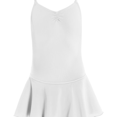 Leotard with Skirt-White