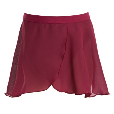 Mock Wrap Skirt-Burgundy