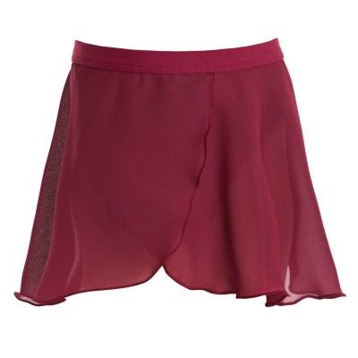 Mock Wrap Skirt-Burgundy