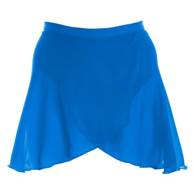 Mock Wrap Skirt-Electric Blue
