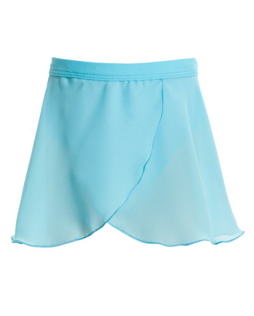 Mock Wrap Skirt-Turquoise