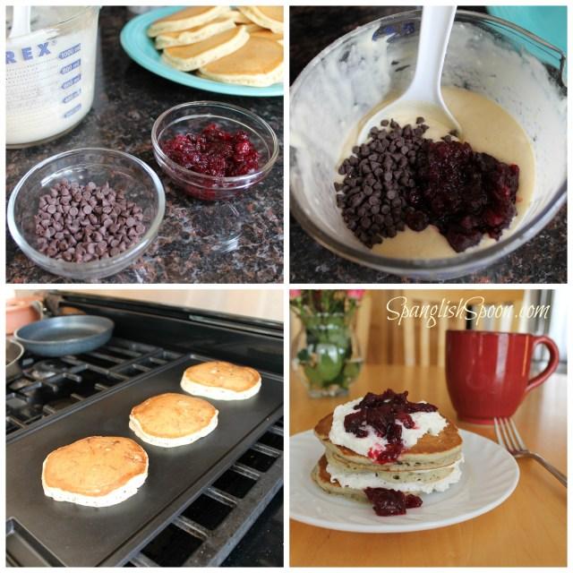 Cranberry Chocolate Pancakes
