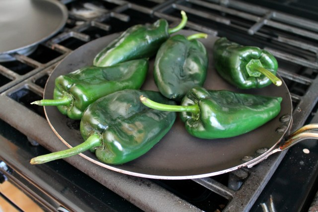 Baked poblano peppers with mushrooms 1