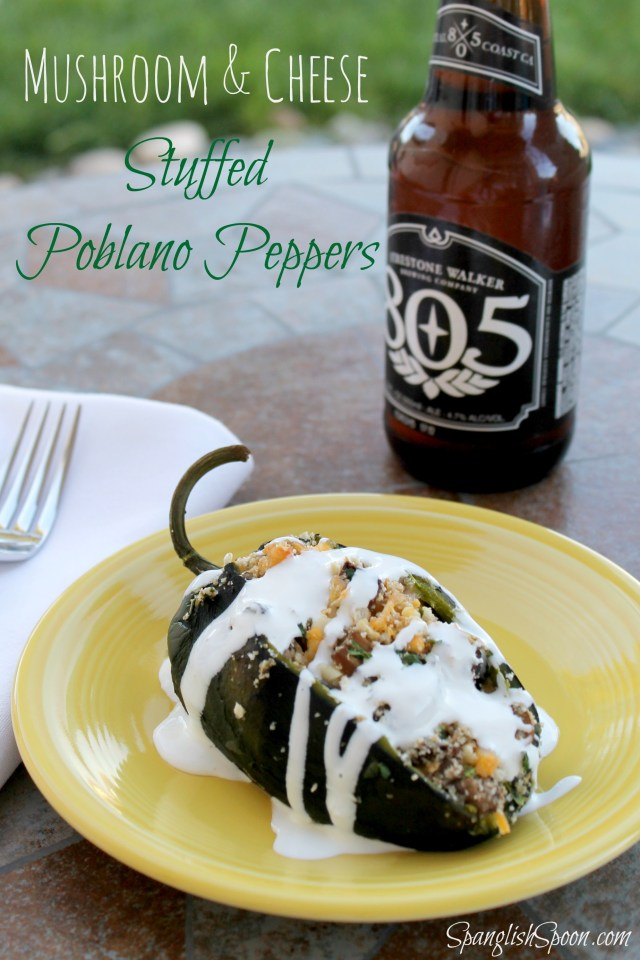 Baked poblano peppers with mushrooms 14