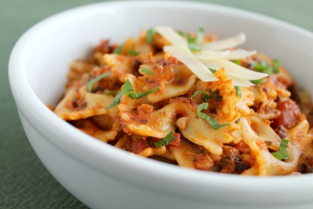 Cheesy Tomato and Chipotle Bowtie Pasta