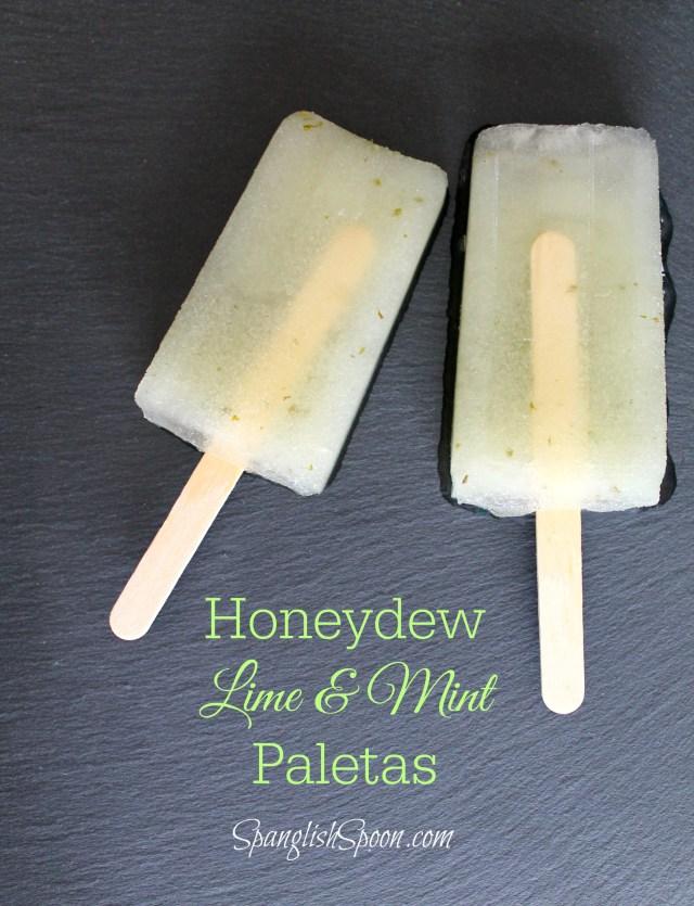 Honeydew lime and mint paletas 8