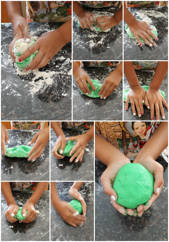 Simple Homemade Playdough 11