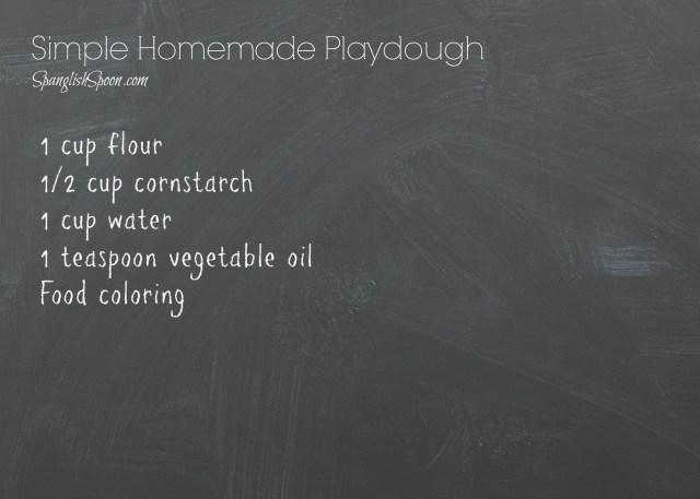Simple Homemade Playdough 3