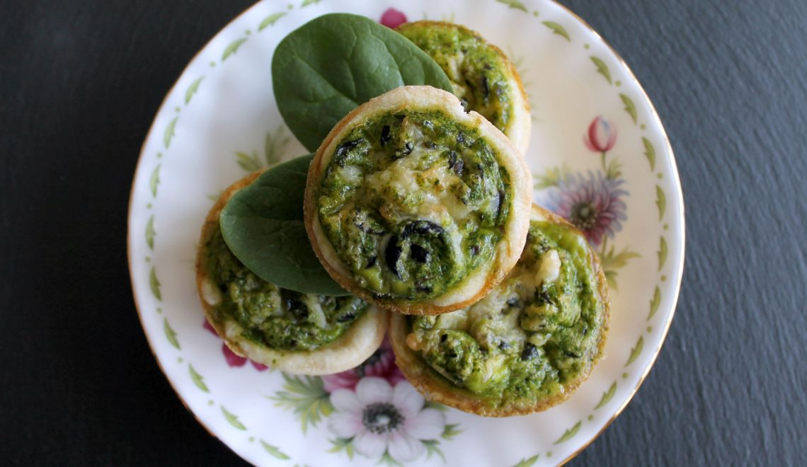 Egg and Spinach Mini Quiches