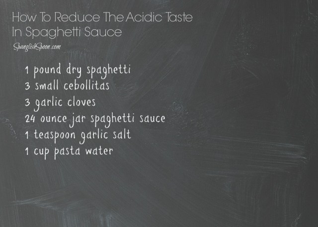 How to reduce the acidic taste in spaghetti sauce 2