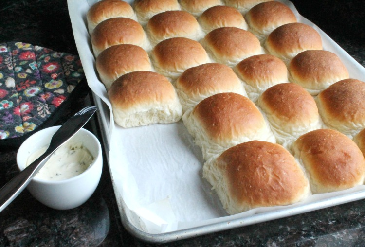 Homemade butter rolls