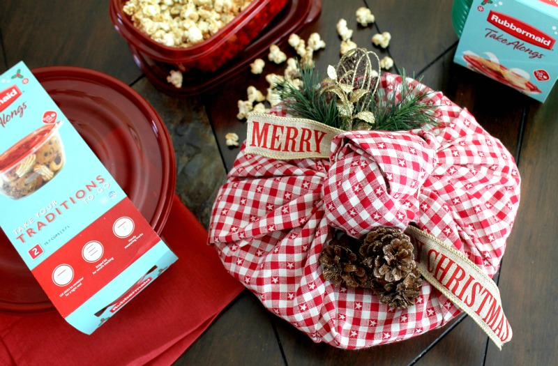 Candied pecans with popcorn