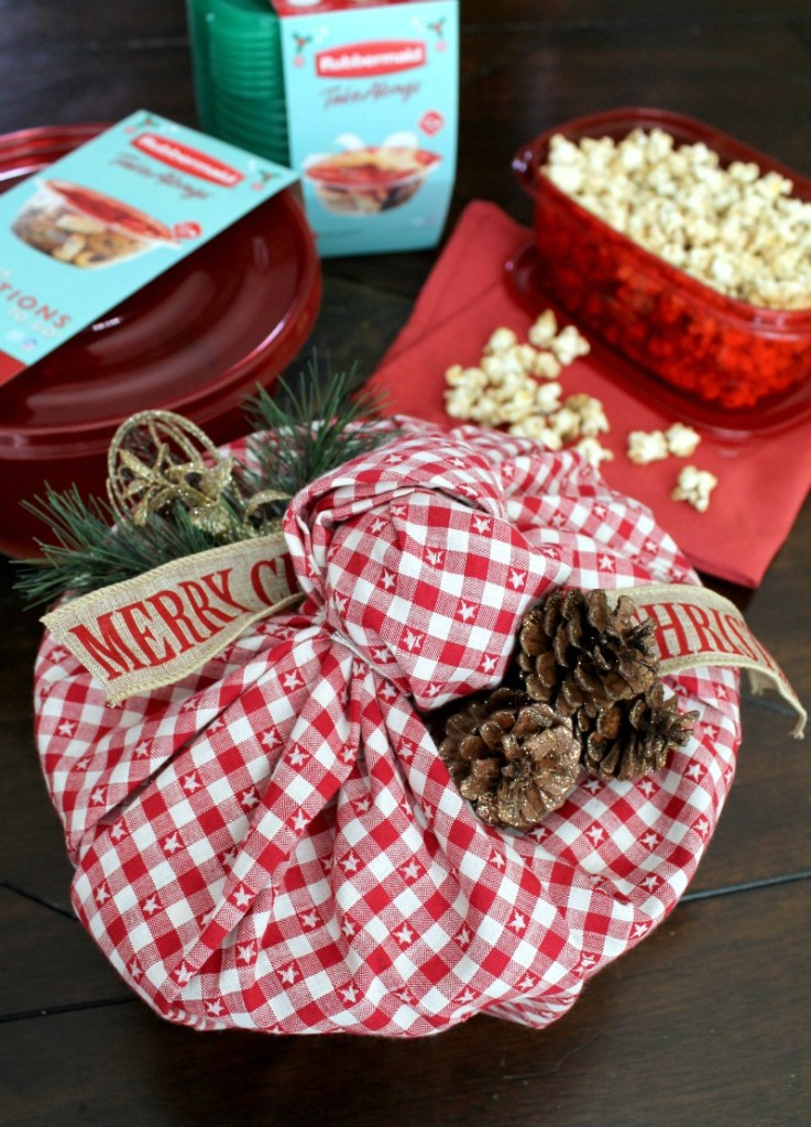 Candied pecans with popcorn 6