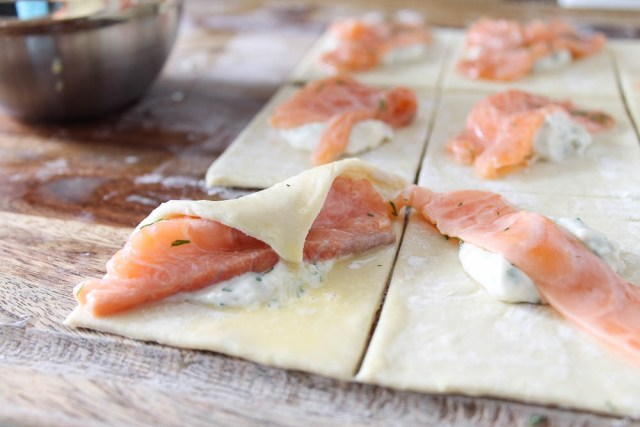 Lemon and Salmon Pastry Appetizer