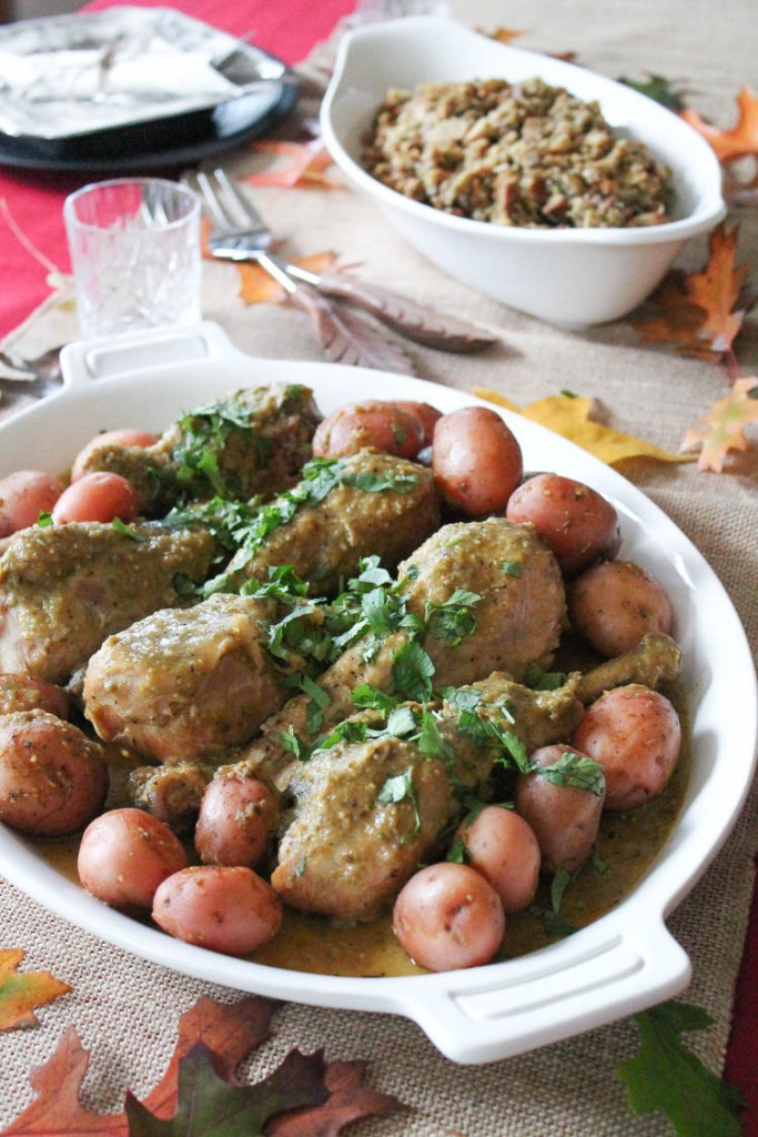Crock-Pot Chile Verde Turkey Legs
