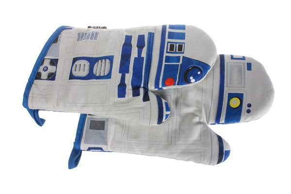 Two R2-D2 oven mittens