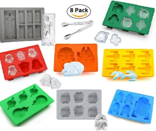 Star Wars Silicone Ice Cube Molds Trays Set of 8