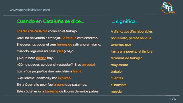 español de cataluña frases