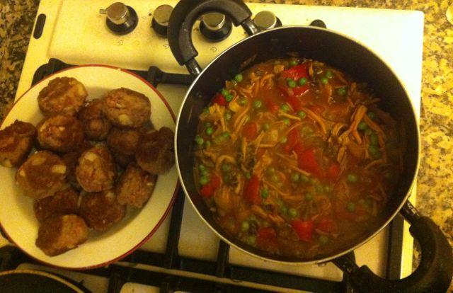imperativo-receta-albóndigas-setas-cocinado-3